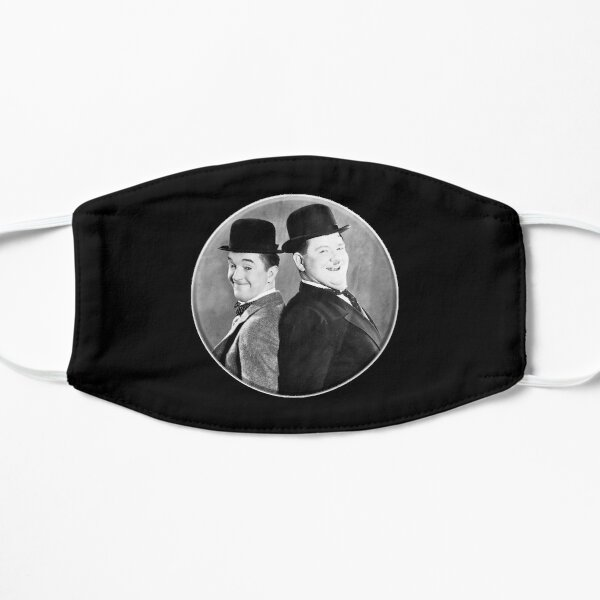 LAUREL AND HARDY. Stan Laurel and Oliver Hardy in their 1939 feature film called The Flying Deuces. Flat Mask