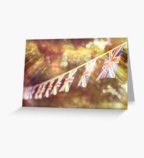 British Union Jack flag bunting  Greeting Card