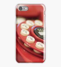 Retro red telephone iPhone Case/Skin
