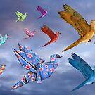 Origami Bird Dreamscape by Paul Fleet