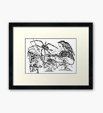 Surreal Doodle Framed Print