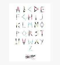 Lightsaber Typeface Photographic Print