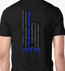 Thin Blue Line - I Bleed Blue Unisex T-Shirt