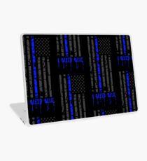 Thin Blue Line - I Bleed Blue Laptop Skin
