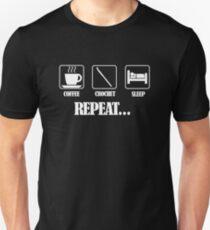 Coffee Crochet Repeat Dark T-Shirt