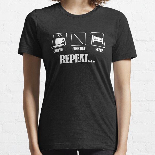 Coffee Crochet Repeat Dark Essential T-Shirt