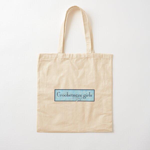crafter grocery bag gift for crocheter crochet lover Crochet cotton tote bag reusable shopping bag cotton bag reusable bag yarn