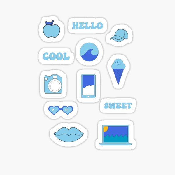 Light Blue Vibes Sticker Pack Sticker