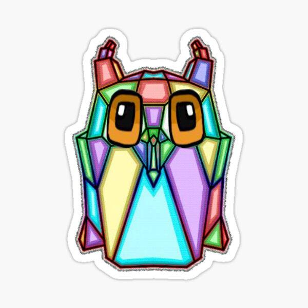 Block Owl Sticker