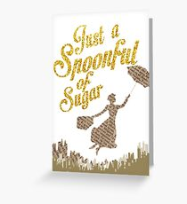Spoonful of sugar Greeting Card