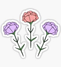 1 2 3 HIPSTER FLOWERS Sticker