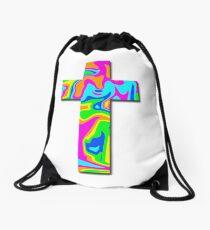 Bright Colorful Cross Drawstring Bag