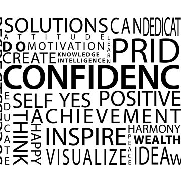 Confidence Classic Word Cloud by jwalk