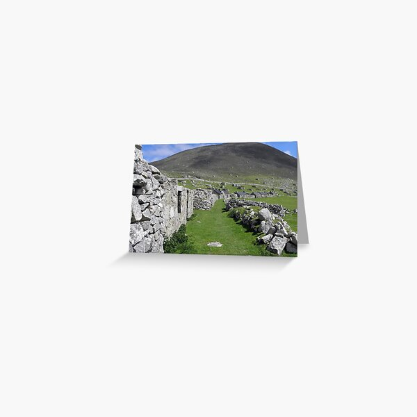 Abandoned High Street, Hirta,  St Kilda Greeting Card