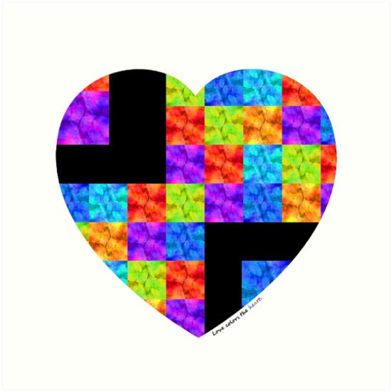 Love Colors The Heart by Sharon Cummings by Sharon Cummings