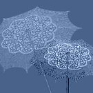 Umbrellas Blue by CarolM