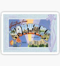 Montana Vintage Souvenir Greeting Post Card Sticker