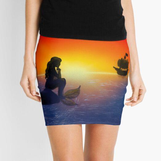 Mermaid Thoughts - Kayla On Canvas Mini Skirt