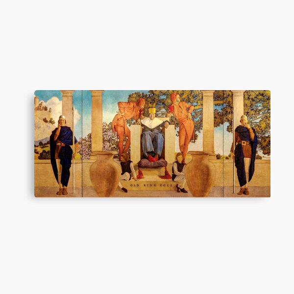 Maxfield Parrish. Old king cole Canvas Print