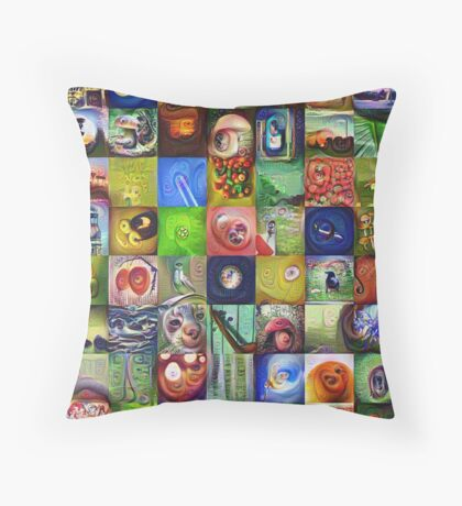 BlackHalt`s Instagram Photos #DeepDreamed Throw Pillow