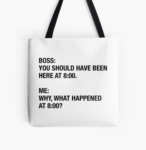 YOU SHOULD HAVE BEEN HERE All Over Print Tote Bag