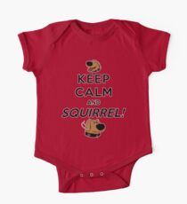 Keep Calm and SQUIRREL One Piece - Short Sleeve