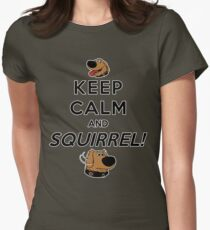 Keep Calm and SQUIRREL Womens Fitted T-Shirt