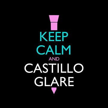 Keep Calm and Castillo Glare Pillow (color) by olmosperfect