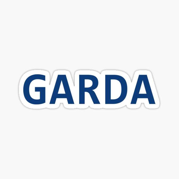 Garda Font Blue Sticker