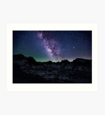 Milky Way over the Sierras Art Print