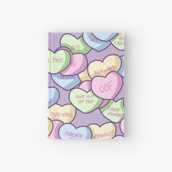 Snarky Conversation Hearts Hardcover Journal