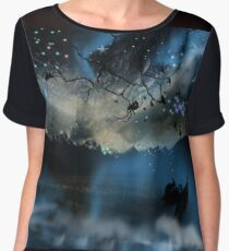 The Blue Mists Of Time Chiffon Top