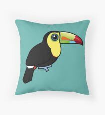 Birdorable Keel-billed Toucan Throw Pillow