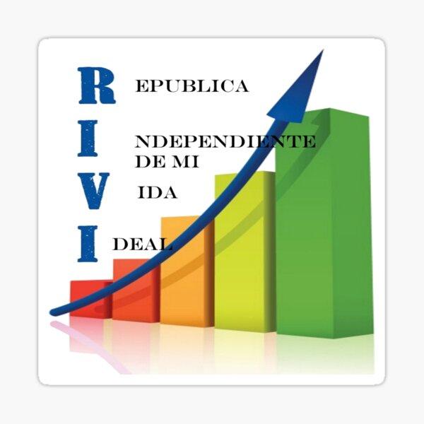 La república independiente de mi vida ideal RIVI Pegatina