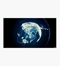 Planet Earth Particle Hologram Photographic Print
