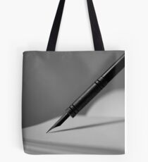 Quill in Black & White Tote Bag