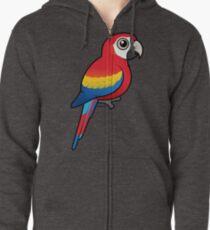 Birdorable Scarlet Macaw Zipped Hoodie