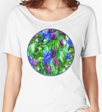 Spring Garden in Shades of Purple Women's Relaxed Fit T-Shirt