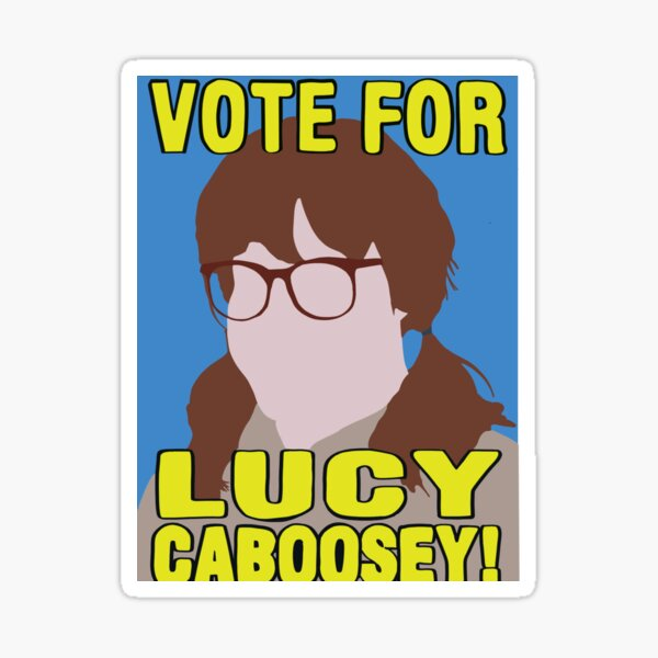 Vote Lucy Caboosey Sticker