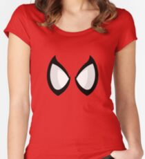 FunnyBONE Spidey Face Women's Fitted Scoop T-Shirt