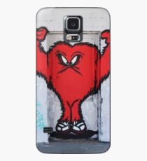 Cute Red Hairy Monster Case/Skin for Samsung Galaxy