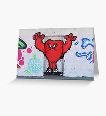 Cute Red Hairy Monster Greeting Card