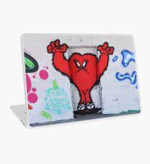 Cute Red Hairy Monster Laptop Skin
