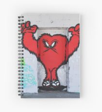Cute Red Hairy Monster Spiral Notebook
