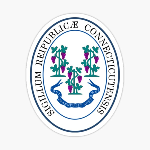 Seal of Connecticut Sticker