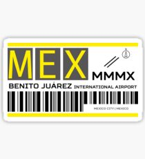 Destination Mexico City Airport Sticker