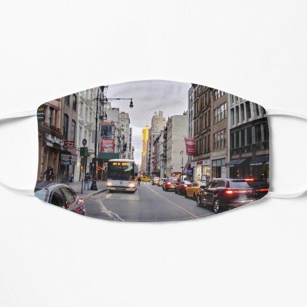 #NewYorkCity New York City #Neighbourhood, #Street, #Road, Lane, Urban area, #City, Town, Downtown, Human settlement Flat Mask