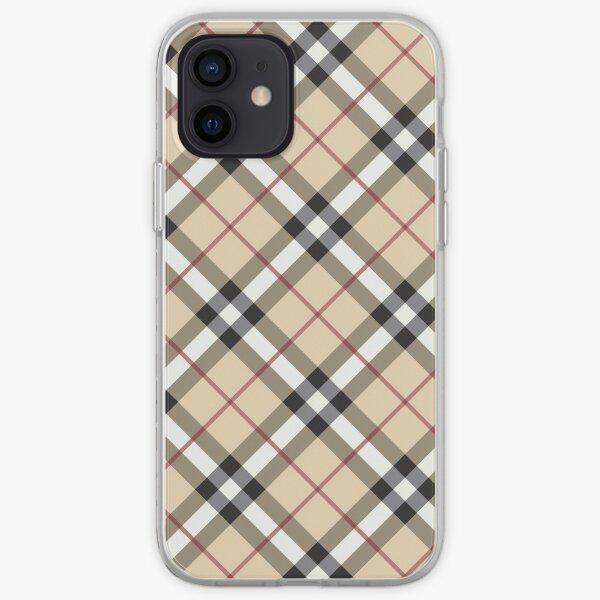 # 5 cuadros escoceses diagonales de lujo Funda blanda para iPhone