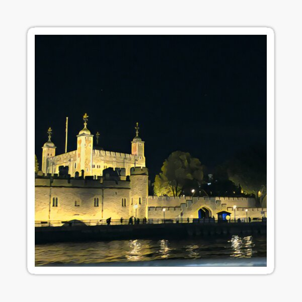 Tower of London at Night Sticker
