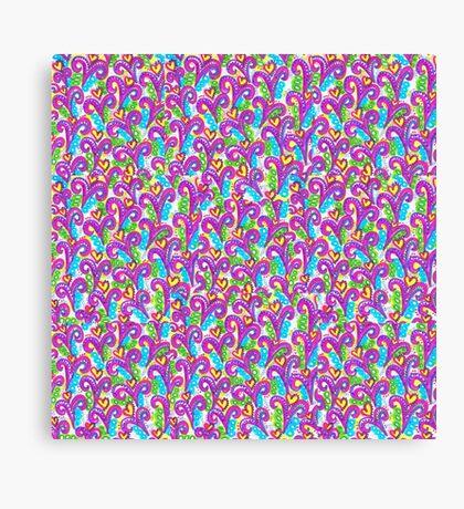 Pink VSwirls - Patchwork Canvas Print